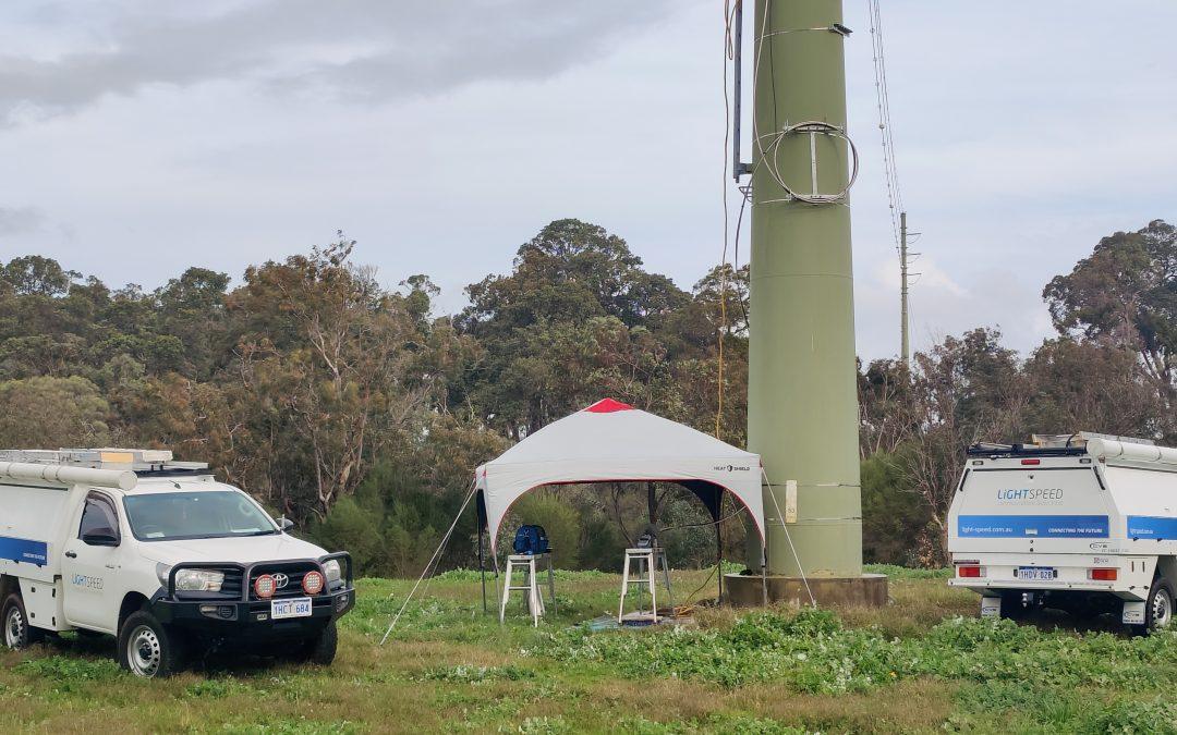 Overhead Fibre Optic Line Through WA's South West